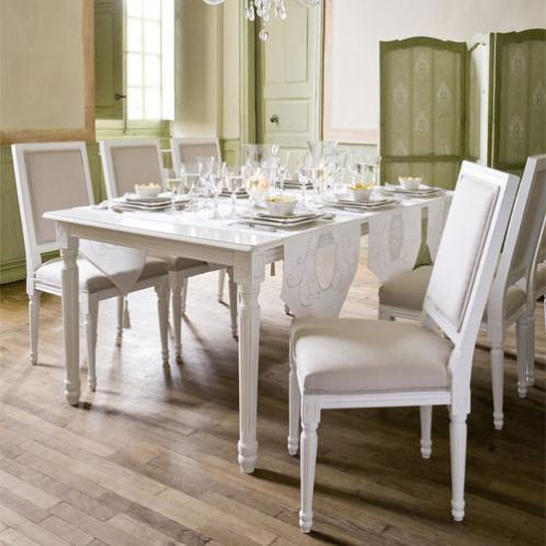 cucina maison du monde tavolo da pranzo avorio - Arredamento Shabby