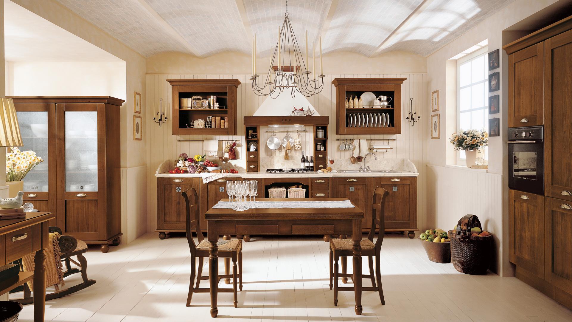 Le cucine rustiche di mondo convenienza e lube for Casa rustica classica