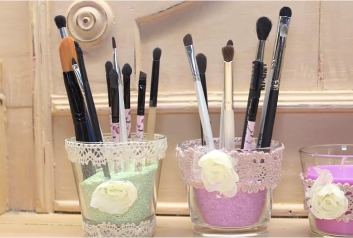 Oggetti shabby chic fai da te come creare vasetti - Accessori bagno fai da te ...
