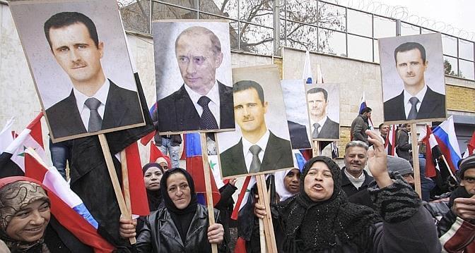 Syrie damas manif pro assad