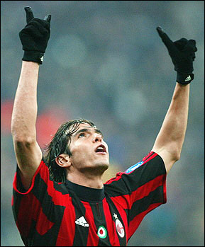Kaka is in unstoppable form in the Champions League