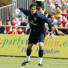 Fabianski made his debut for Arsenal against Barnet