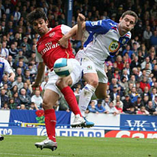 Eduardo struggled in the second half against Blackburn