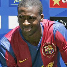 Yaya Toure has slipped straight into the Barcelona first team