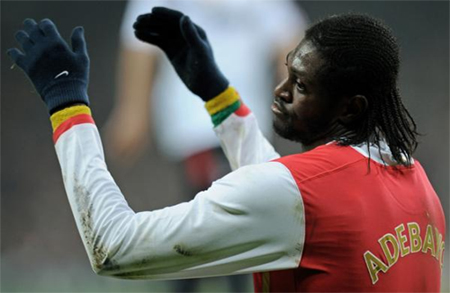 Adebayor is hoping to break his Champions League duck in the San Siro
