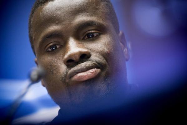 Eboue talks to the media pre-Alkmaar