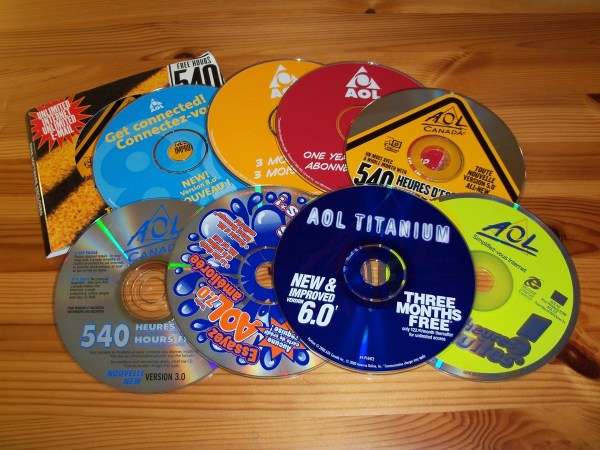 AOL promotional CDs in Canada