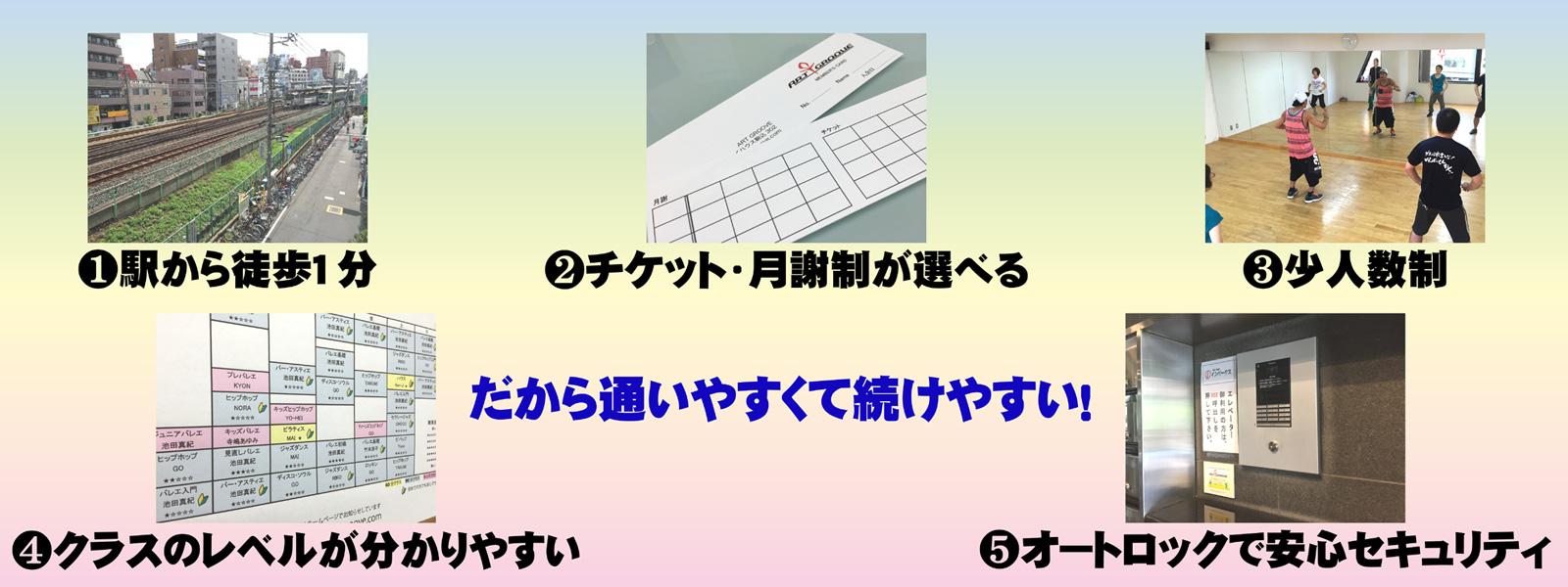 Art Groove ダンススタジオ特徴