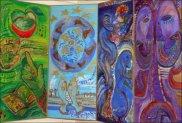"""Наталья Моисеева - Фрагмент настенного панно """"Семь цветов радуги"""""""