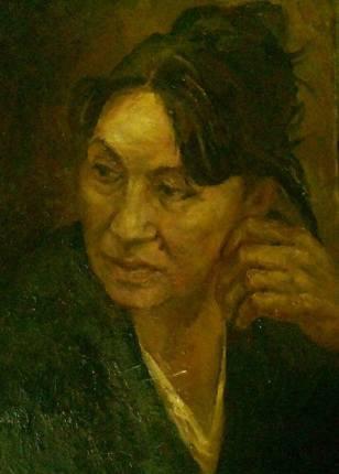 Наталья Моисеева - Портрет, х.м., 70*50