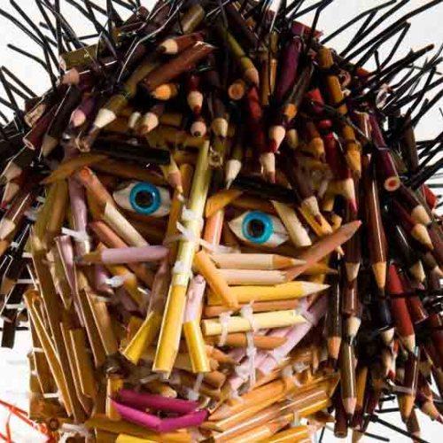 скульптуры из карандашей-5