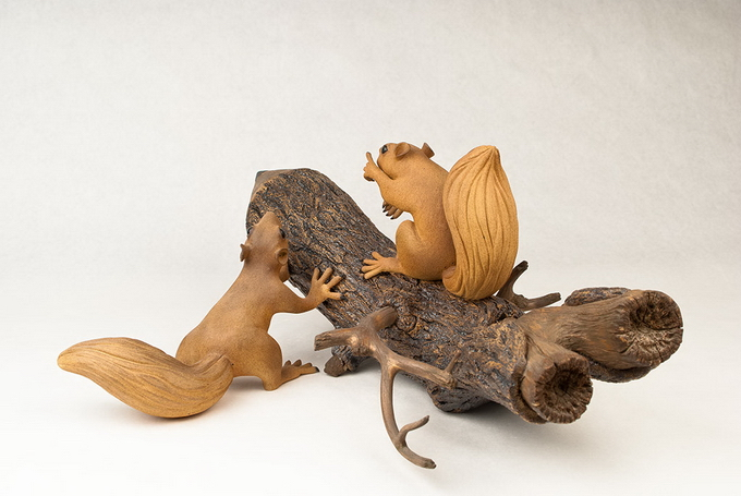 """Художник создает """"деревянные"""" скульптуры, не используя древесины"""