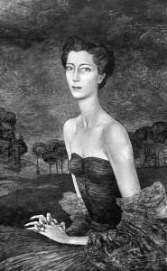 Diane Chandon, huile sur toile, 1949