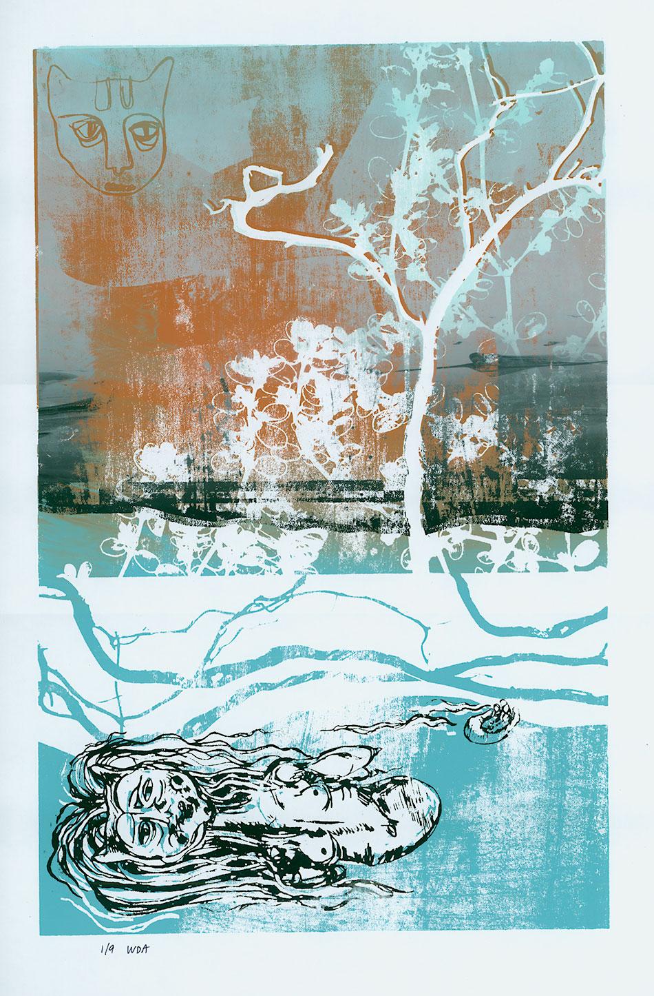 Print: Ophelia by Woodie Anderson