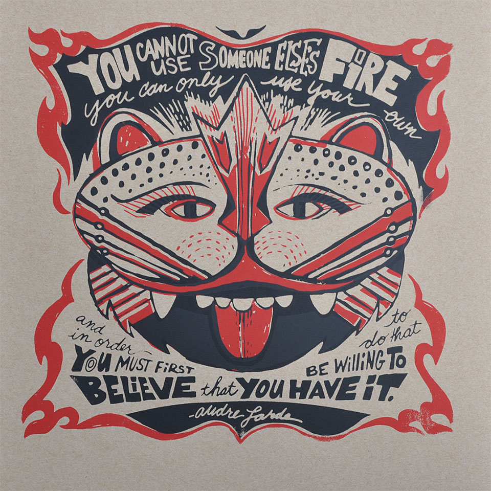 FIRE - Believe You Have It Tiger Poster - Mask Series