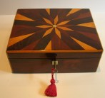 A Handsome Early 19th Century English William IV Parquetry Box. c. 1830