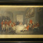 "A Large Early 19th Century English Fox-Hunting Print titled ""The Melton Breakfast"" published in 1839."
