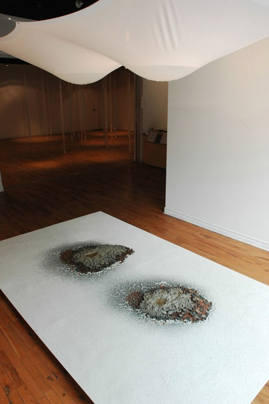 2011, 6'x12'x14'h, bentonite clay, metal, water, wood, nylon