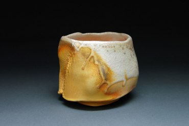 "Wood-fired white stoneware, 3.5""x4""x4"""