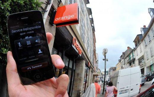 Panne nationale mobile de Orange