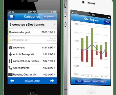 Gerer ses comptes à distances grâce à bankin disponible sur iOS et Android.
