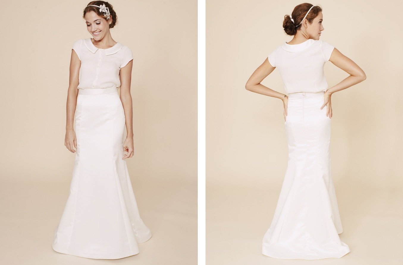 archive wedding dress 2 piece Simple Wedding Dresses Two Piece Bridal Gown Original Jpeg