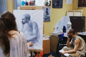 145 -Анна Козлова, начинающий художник, обитурьент в Мухинку, по итогу поступила в Репенку, после худ. шк. 4 мес