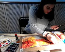 рисуем акварелью в школе рисования ArtClass