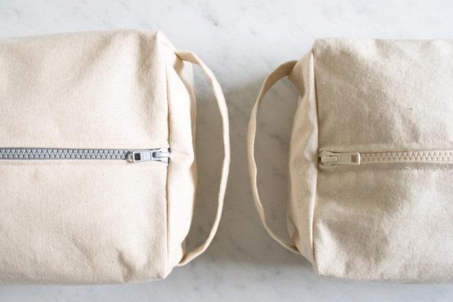 Bolsa Em Algodão Cru Passo A Passo : N?cessaire de algod?o cru ou lona com tutorial