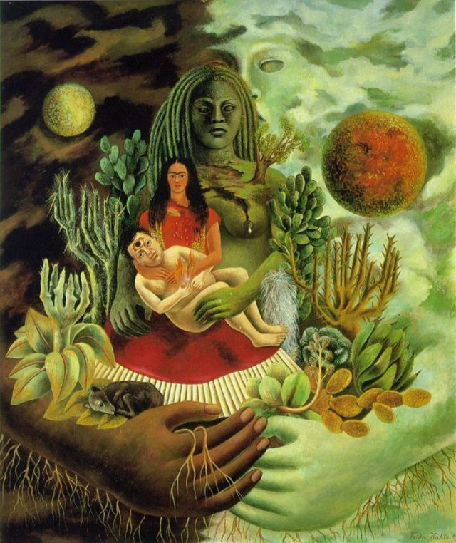"""""""El abrazo de amor de El universo, la tierra (México), Yo, Diego y el señor Xólotl"""" (1949)"""