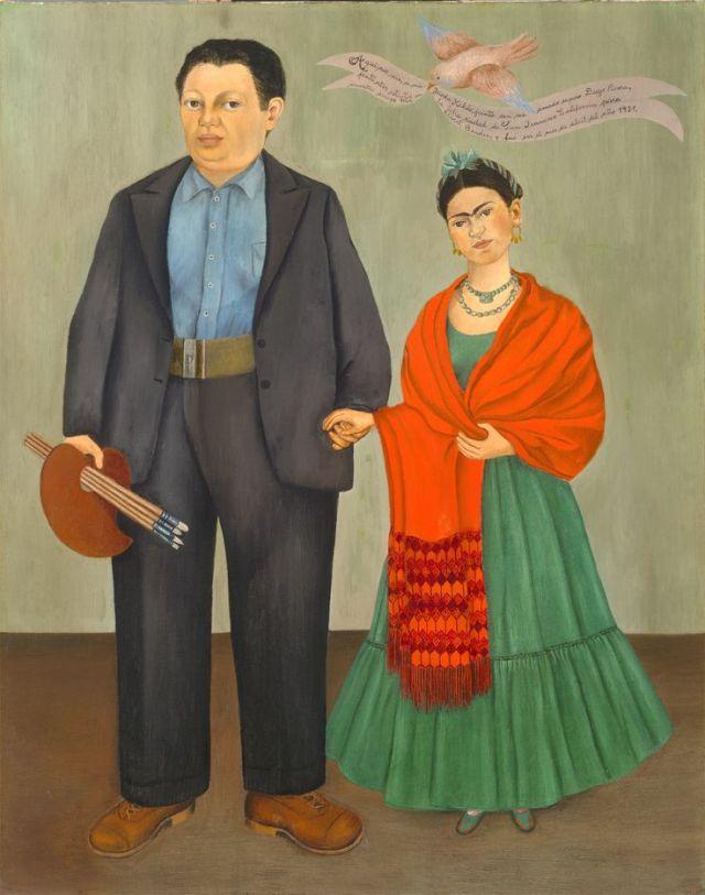 pintura Frida Kahlo  Diego Rivera