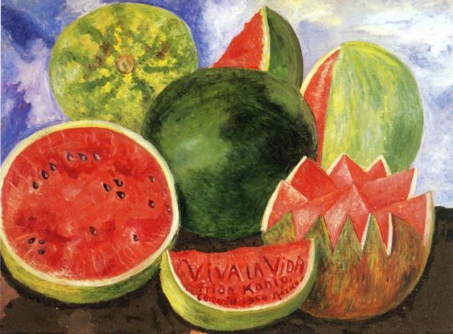 """""""Viva la Vida"""" (1954) Fue el último cuadro que terminó. Como dato: la banda Coldplay tomo el nombre del cuadro para su álbum """"Viva la Vida or Death and All His Friends"""""""