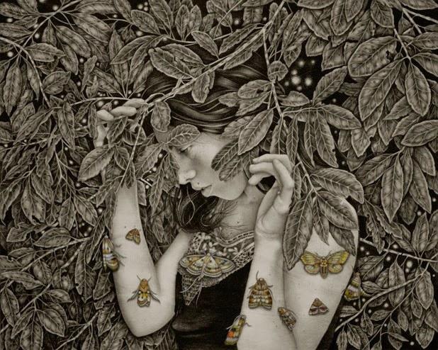 Dibujos carboncillo Alessia Iannetti 6