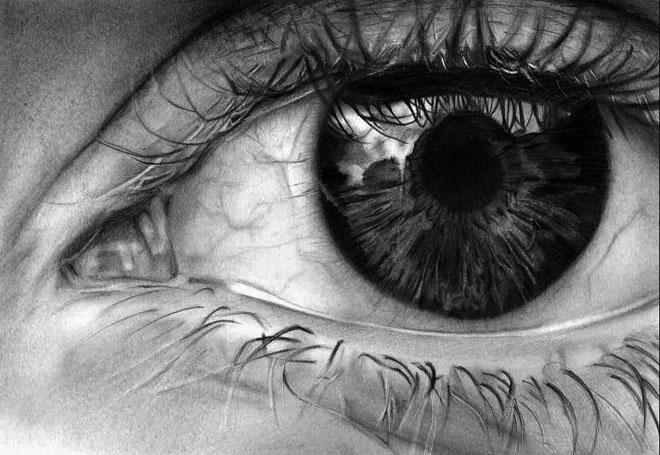 20 asombrosos dibujos realistas de ojos hechos a lpiz  Arte Feed