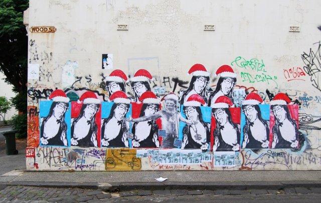 Murales callejeros navide os arte feed - Murales decorativos de navidad ...