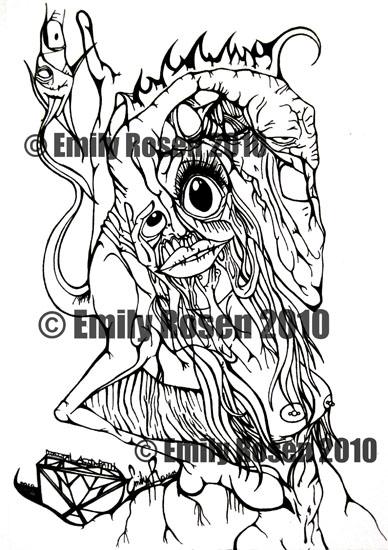 Dog Woman by Featured artist Emily Rosen
