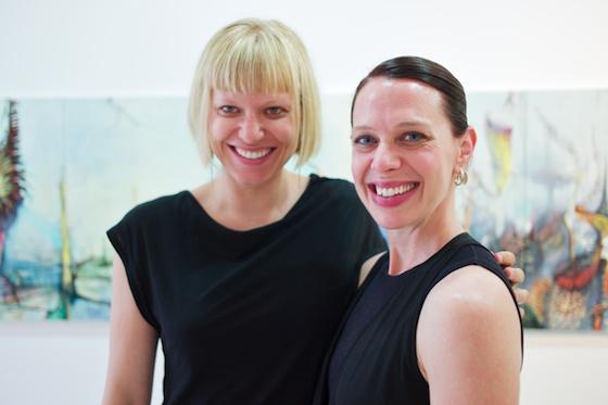 (L-R) Rachel Churner with Artist, Joianne Bittle