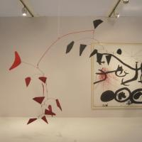 "Alexander CALDER ""Two Fish Tails"" 1975 painted sheet metal, rod, and wire 76 x 94 inches $8,000,000 at Helly Nahmad"