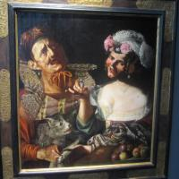 "Pseudo CAROSELLI ""Allegory"" circa 1625 oil on panel 32 x 29 inches €600,000 at Galería Caylus"