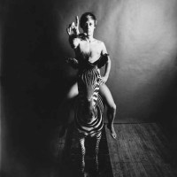 PETER HUJAR Paul Thek, Nude, Astride Zebra, c.1965 Vintage gelatin silver print 17 x 14 in.