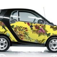 smart car covered in fallen fruit wall paper Honolulu