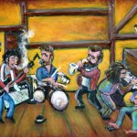 """Musically Speaking"" Featuring the Art of NJ's Jason Gluskin at Bergen Performing Arts Center's Intermezzo Gallery.  Aug 5 – 31."