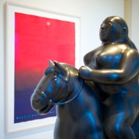 A Botero Piece at Sundaram Tagore Gallery for Chelsea Art Walk 2014