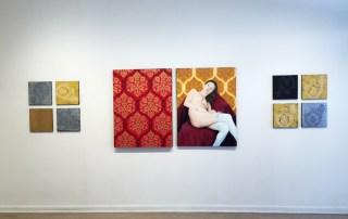 Installation shot of Vincent Zambrano's work.