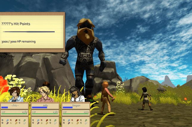 New battle hud, and a big angry giant guy.