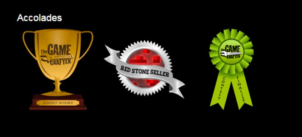 Awards at TheGameCrafter