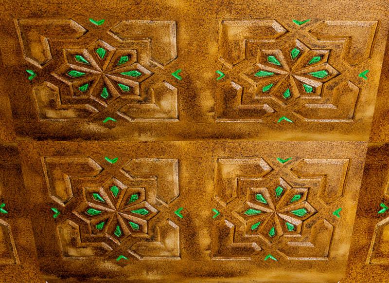 Artesonado de techo mud jar artesanos juntos - Escayola decorativa techo ...