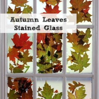 Autumn Leaves Craft :: A Stained Glass Window