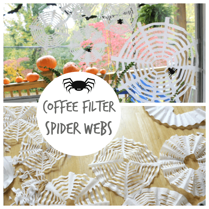 Coffee Filter Spider Webs