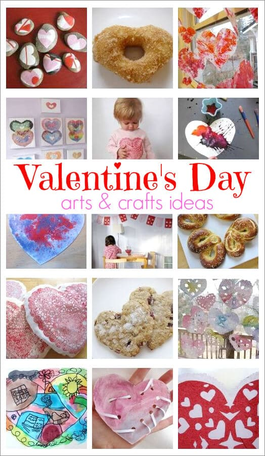 Valentine's Day Arts and Crafts Activities for Kids and Their Grown-Ups -- on The Artful Parent